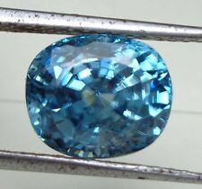 8.25CT VS CUSHION NICE NATURAL FIRE NEON BLUE CAMBODIAN ZIRCON