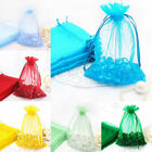 New 25/50/100Pcs Organza Gift Decor 12x9cm Candy Pouch Bags Wedding Party Favors