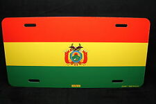 BOLIVIA FLAG METAL NOVELTY LICENSE PLATE TAG FOR CARS