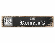SP0760 The ROMERO'S Family name Sign Bar Store Shop Cafe Home Chic Decor Gift