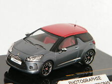 CITROËN DS3 2011 GRIS METAL/ROUGE IXO 1/43 Ref MOC121