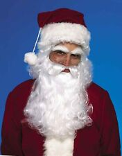 Deluxe Santa Wig AND Beard Set Christmas Costume Claus White Mustache Mens Adult