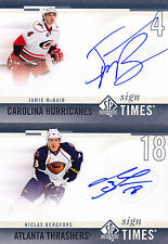 10-11 SP Authentic Niclas Bergfors Auto Sign Of The Times SOTT