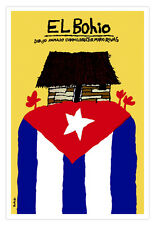 Cuban decor Graphic Design movie Poster 4 film El Bohio.Shack.Cuba Tiny House