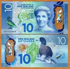 New Zealand, $10, 2015, Polymer, P-New, Aa-Prefix, Redesigned, Unc