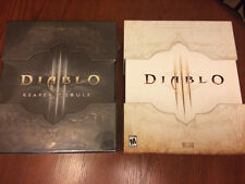 DIABLO III: 2 ITEMS - COLLECTOR'S EDITIONS - 2012 ORIGINAL & REAPER OF SOULS