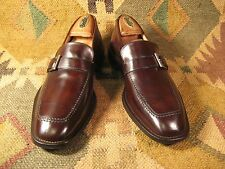 Cole Haan Red label Chestnut brown leather Buckle Loafers sz 8.5M Made in Italy