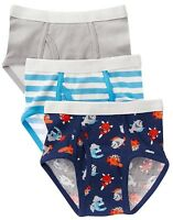 NEW Gymboree Baby Toddler Boys 2T-3T Set of 3 Fish Blue Gray Underwear Briefs