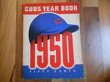 Old Vintage 1950 Chicago Cubs Year Book Publication MLB Baseball Frank Frisch