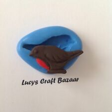 Silicone Mould Christmas Robin Bird Winter Sugarcraft Cupcake Pop Topper Fondant