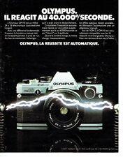 PUBLICITE ADVERTISING 027  1980   Olympus appareil photo OM-10