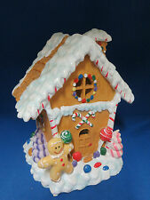 Gingerbread House Lighted Light Up Christmas Village Holiday Town Giftco 8""