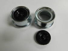 (2) - Trailer Axle Dust Cap Cup Grease Cover & plug RV Camper Utility 1.98""