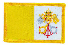 FLAG PATCH PATCHES VATICAN CATHOLIC  IRON ON COUNTRY EMBROIDERED WORLD FLAG