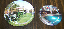 2011  STRATEX- Green Village  25  and  50  Cents set of Pogs not  AAFES pogs
