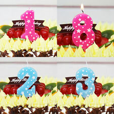 Boys&Girls Birthday Cake Numbers Decoration Candles Party Anniversary PINK 1