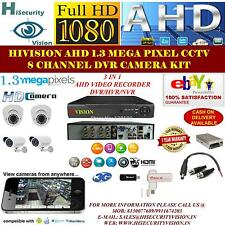 FULL HD CCTV SYSTEM CAMERA KIT 8 CHANNEL DVR 1.3 MEGA PIXEL DOME/BULLET CAMERA