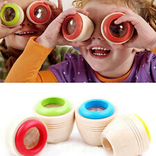 Wooden Educational Magic Kaleidoscope Baby Kid Children Learning Puzzle Toy 1pcs