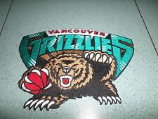 "NBA VANCOUVER GRIZZLIES IRON ON  JACKET PATCH 8"" X 6"""