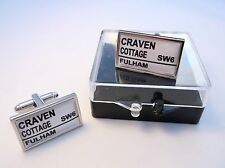 FULHAM STADIUM BADGE STREET SIGN MENS CUFFLINKS GIFT