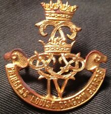 4th PRINCESS LOUISE DRAGOON GUARDS WWII cap badge Canada WW2 Canadian TALL IV