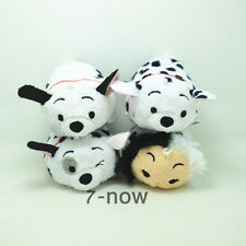 "4PCS New 101 Dalmatians Tsum Tsum 3 1/2"" Lucky Patch Rolly Plush Toy Doll  Gift"