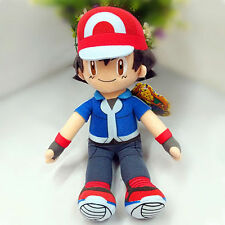 NEW Pokemon Pocket Monsters Partners Ash Ketchum Soft Plush Toy Doll Gift 11''