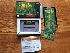 Secret of Mana (Super Nintendo Entertainment System, 1993) Complete Video Game