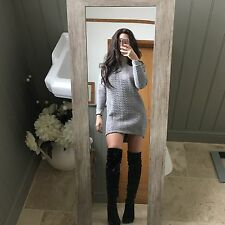 Topshop Quilted Grey Jumper Dress