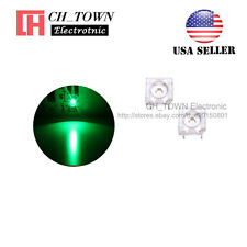 100pcs 5mm Green Light Piranha Super Flux Round Top LED Diodes Ultra Bright USA