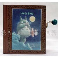 GENUINE JAPAN MY NEIGHBOUR TOTORO HAND SHAKE BOOK SHAPE MUSIC BOX
