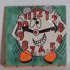 VINTAGE 1980 CRACKER JACK CLOCK FACE PUZZLE MAZE TOY