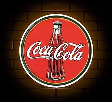 COCA COLA BADGE SIGN LED LIGHT BOX MAN CAVE RETRO DRINK GAMES ROOM BOYS GIFT