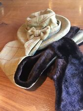 Oxford Blue Tweed Hat And Scarf Set. Size Med. 56cm