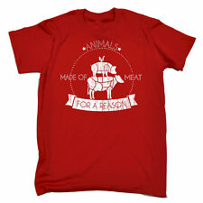 ANIMALS MADE OF MEAT FOR A REASON T SHIRT JNR veggie chef butcher carnivore