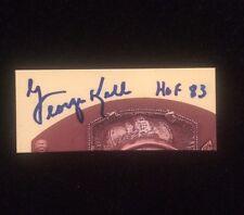 GEORGE KELL Autographed Signed AUTO HOF CUT Signature HOF 83