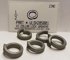 "1/2"" High Collar Split Lock Washers Steel Zinc Plated (50)"