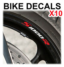 10X BMW S1000R S 1000 R MOTORCYCLE BIKE WHEEL STICKERS DECALS TAPE RIMS