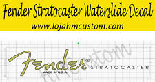 Fender Stratocaster Custom Headstock Logo Waterslide Decal ( Light Gold )