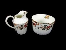 Vintage Old Avon England Floral Creamer Pitcher and Bowl Dish 195320