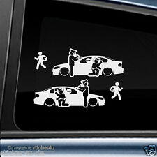 (1677) 2x Fun Sticker Aufkleber / Catch Real Criminals BMW E90 Limousine M3