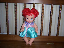 "RARE Disney 12"" Ariel The Little Mermaid Baby Doll & Dress 2007 Playmates Toys"