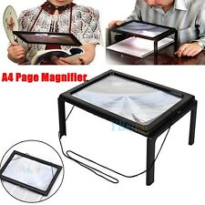 Large A4 Page Hands Free 3x Magnifying Glass With Light LED Magnifier Reading