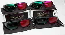 NEW 4 PACK TriOviz InfiColor 3D Glasses PS3 XBox 360 Arkham Asylum GOTY City