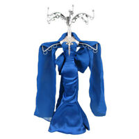 Mannequin Jewellery Stand Tree Display Necklace Holder Lady Blue Dress