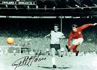Geoff HURST Signed Autograph 16x12 England 66 World Cup Classic Photo AFTAL COA