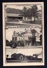 108376 AK Groß Rinnersdorf Kr. Lüben 1907 Gasthaus Buchholz Bahnhof Gleiseite