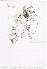 Gitta Kettner Federzeichnung 1993 - Schülerin von Max Schwimmer 001