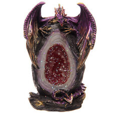 Crystal Geode Dragon Figurine Ornament Statue Figure Gift Present Gothic NEW