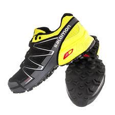Salomon Speedcross Vario Mens Trail Running Shoes Black /Green /Dark Cloud SZ 8